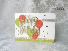 Stampin' Up! Birthday Thinlits and Balloon Celebration
