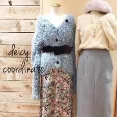 deicy_official:recommend coordinate♥ * #deicy #mecouture  #shinjuku #lumine #winter #blue #iceblue #fur #knit #white #flower #デイシー #冬 #ニット #モコモコ #ふわふわ #青 #冬休み #お出かけコーデ  #ルミネ #モテコーデ 2017/12/28 21:21:14