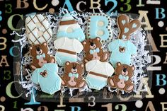 Cookies with Character: Blue Bear Baby Cookies