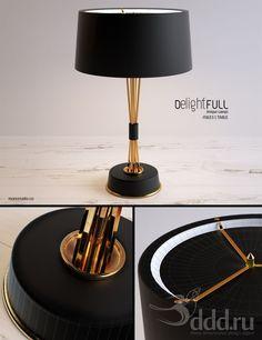 PROFI Delightfull - Miles Table light 3dsMax 2012 + fbx (Vray) : Table lamp : 3dSky - 3d models