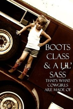 Boots Class & A 'Lil Sass - I would have loved this for my Katie when she was little.