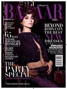 Magazine photos featuring Harper's Bazaar Magazine [India] (December on the cover. Harper's Bazaar Magazine [India] (December magazine cover photos, back issues and newstand editions. Bollywood Photos, Bollywood Actors, Bollywood Fashion, India Match, Babe, Hair Magazine, Chinese Actress, Harpers Bazaar, Latest Pics