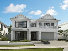 Now in construction, due to be completed August 2019. Architectural design with a neutral colour palette with light, spacious living areas.    #hallharthomes #knockdownrebuild #custombuildhomes #flexiblefloorplans #sydneyhomes #hamptons #modernhamptons