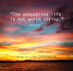 An Unexamined Life is Not Worth Living.-**Socrates quote**