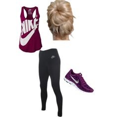 Work out outfit idea...my my they even got you a hairstyle to go with this outfit :))