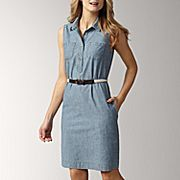 Liz Claiborne Belted Chambray Dress  want!!
