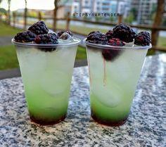 SUMMER METEOR ½ oz. (15ml) Blackberry Syrup Add Ice 1 oz. (30ml) Gin ½ oz. (15ml) Lemon Liquor ½ oz. (15ml) Peach Schnapps ½ oz. (15ml) Lime Juice 3 oz. (90ml) Lemonade Splash of Melon Liquor Blackberries with Garnish Instagram Photo Credit:...