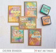 Awesome Distress Oxide Glazed Resist Card Set