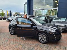 Here is Mrs Katie Watkins picking up her brand new E208! She has made the move to electric after falling in love with the E208's design and especially the 3D Icockpit display. Katie is a new customer to Peugeot enjoy your car Katie! Peugeot, Falling In Love, Electric, Brand New, Display, 3d, Design, Floor Space, Billboard