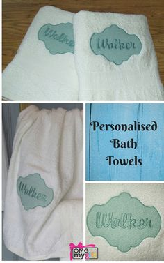 100% Cotton Bath Towels with a  gorgeous embossed embroidery design.  Personalised Bath Towels are a charming gift and the embossed embroidery is a beautiful touch.  A perfect idea for the 2nd Wedding Anniversary or Cotton Anniversary, a Housewarming Gift, a Wedding Gift or a fabulous gift to yourself - http://www.omgmygift.co.uk/personalised-bath-towels-28114-p.asp