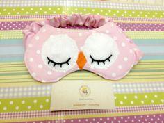 Máscara de dormir de coruja Pra hora do sono ficar divertida! ✅Facebook: Costurices da Piettra