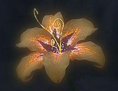 Tangled Flower (Tattoo Concept: under elbow back of arm)