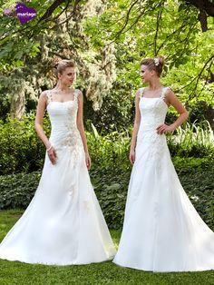 Robe de mariée Luisa, robe de mariée dentelle perlée, robe de ...