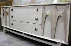 Credenza that is mid mod vintage. Has been painted and looks better than ever.