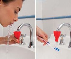 Turn your faucet into a water fountain $6.95