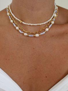 Bead Jewellery, Beaded Jewelry, Jewelry Necklaces, Beaded Bracelets, Pearl Necklaces, Pearl Beads, Trendy Jewelry, Summer Jewelry, Cute Jewelry