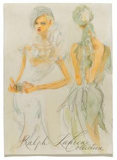 Sketch of Ralph Lauren's Spring 2012