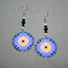 Lotus Flower Earrings Silver Mandala Sacred by melbecreations