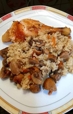 Greek Recipes, Food And Drink, Tasty, Chicken, Meat, Simple, Cleaning, Greek Food Recipes, Cubs