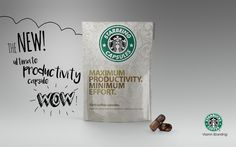 #starbucks #pills #productivity #capsules #creative #branding