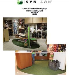 SYNLawn creates beautiful retail displays like this one we did for Crocs.