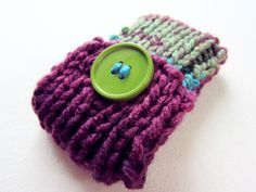 Knit Cell Phone Case IPhone Cozy Knitted Crochet by AutumnAndAmber, $15.00