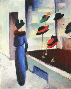 The Milliner's Shop, 1913 ~ August Macke ~ (German: 1887-1914)