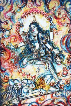 Kali Goddess, Mother Goddess, Mother Kali, Divine Mother, Shiva Shakti, Kali Shiva, Original Paintings, Original Art, Hindu Art