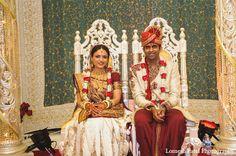 indian wedding bride groom ceremony http://maharaniweddings.com/gallery/photo/10775