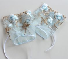 Fingerless Bridal Gloves Romantic Wrist Cuffs in by MammaMiaBridal, $25.00