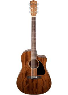 The Fender CD60CE All-Mahogany - One of Fender's best-selling acoustic-electrics is now available with the sweet mellow tone of an…