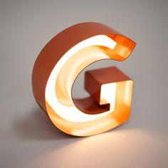 Letter G ♥ Lamp. Visual identity for Stockholm brasserie Grodan designed by Retail Signage, Wayfinding Signage, Signage Design, Environmental Graphics, Environmental Design, Signage Light, Led Neon, Sign System, Displays