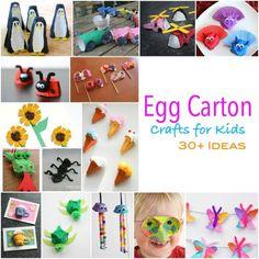 Recycled Egg Carton Craft for Children - Emma Owl Egg Carton Crafts, Egg Crafts, Paper Crafts, Egg Box Craft, Diy For Kids, Crafts For Kids, Turtle Crafts, Recycled Crafts Kids, Imagination Tree