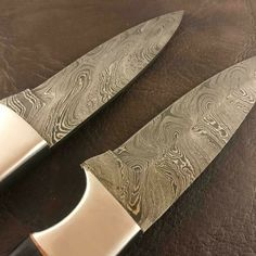 """Hand Stitched Leather Sheath   Overall Length: 9.25""""  Blade Length: 5.25""""  Handle Length: 4""""   Micarta,Wood Handle  Damascus Double Guarded  Solid Brass Spacers."""