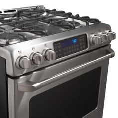 GE Cafe 5.4 cu. ft. Dual Fuel Range with Self-Cleaning Convection Oven in Stainless Steel-C2S985SETSS - The Home Depot