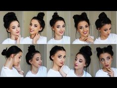 10 Easy BUN Hairstyles! **TUMBLR inspired!** - YouTube