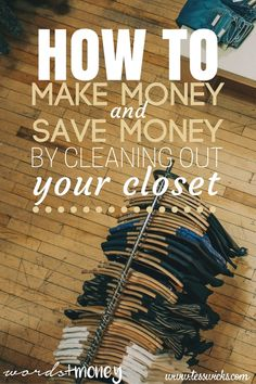 Learn how to make and save hundreds of dollars by cleaning out your closet. Purge, Cleaning Closet, How To Treat Acne, Money Saving Tips, Making Ideas, Cleanse, Budgeting