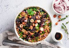 Buckwheat and Beetroot Salad Buckwheat, Beetroot, Cobb Salad, Acai Bowl, Protein, Breakfast, Food, Glutenfree, Acai Berry Bowl