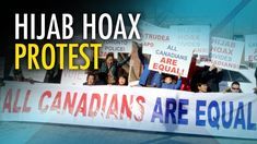 """Chinese Canadians protest #HijabHoax: """"CBC fake news, Rebel Media real n..."""