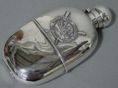 Stunning Large Size Antique Silver Spirit Hip Flask Molesey Regatta 1888 | eBay
