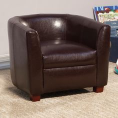 Coaster Kids Chair In Faux Leather 405014 $85.55