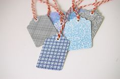 cute gift tags made from security envelopes