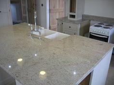 Ivory Fantasy granite kitchen worktop in Cheshire, Tarporley - Grosvenor Granite