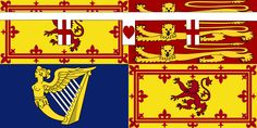 Royal Standard of Princess Anne used in Scotland