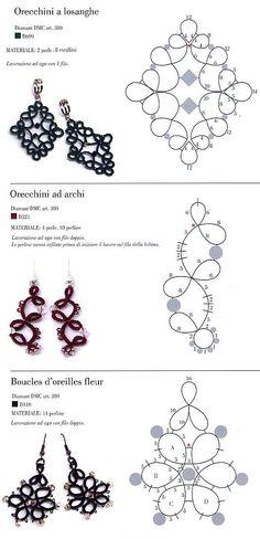 Earrings tatting pattern