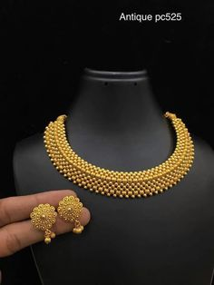 Gold Jewelry Elegant 1 gram Necklaces - Elegant Fashion Wear - Elegant Fashion Wear Explore the trendy fashion wear by different stores from India Jewelry Design Earrings, Gold Earrings Designs, Jewellery Designs, Gold Designs, Indian Jewellery Design, Designer Jewellery, Necklace Designs, Gold Bangles Design