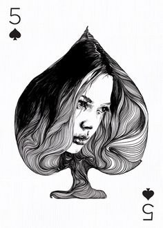 Gabriel Moreno, Playing Arts, 5 of Spades