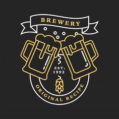 Bar Logo, Brewery, Decorations, Logos, Design, Vintage Signs, Riddling Rack, Root Beer, Logo