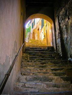 Stairway, Montalcino by Conlawprof, via Flickr
