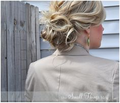 Messy Double Bun from the small things blog - cute, simple and even I can do this! This is a new favorite hair style of mine!